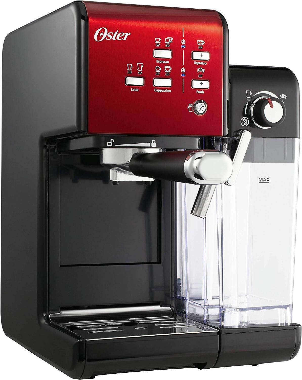 Oster Cafetera espresso Prima Latte II, con tratamiento de leche, rojo, 0: Amazon.es: Hogar
