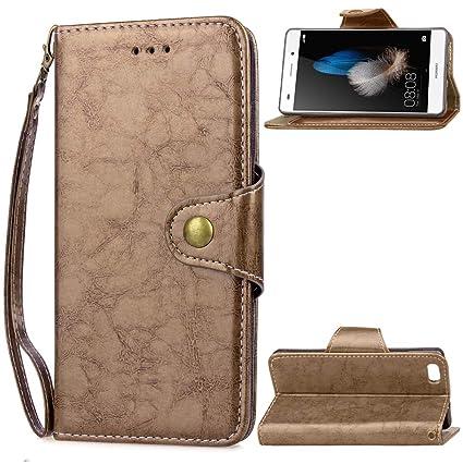 Amazon.com: Huawei P8 Lite(2016) Case, PU Leather Stand ...