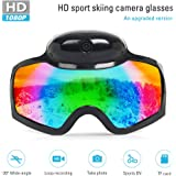 YAOAWE Outdoor Ski Goggles - mini Hidden Camera - Full HD 1080P - 100% UV400 protection - Over Glasses Snowboard Goggles for Men, Women & Youth