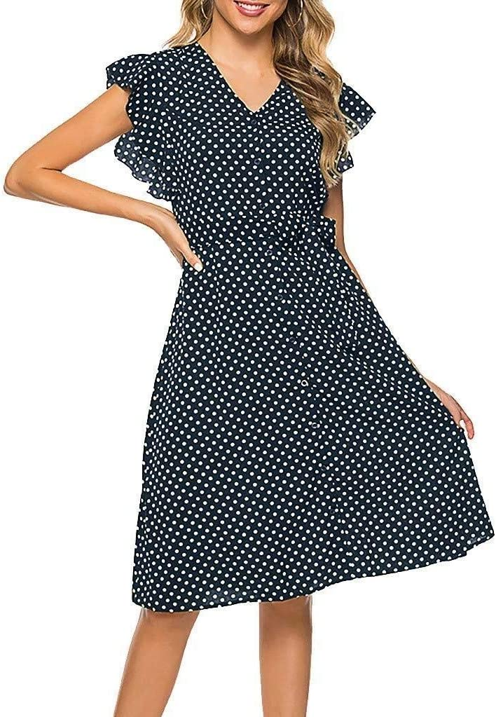 Go First Moda para Mujer Vestidos con Cuello En O Elegantes ...