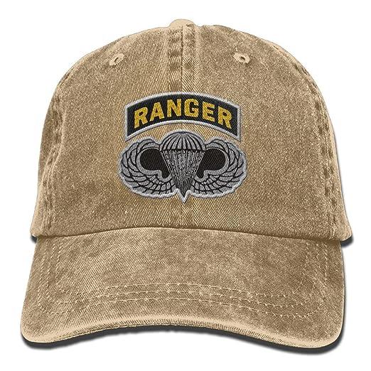 bf32cc67a9e Amazon.com  Us Army Ranger Tab Embroidery Denim Dad Cap Baseball Hat ...