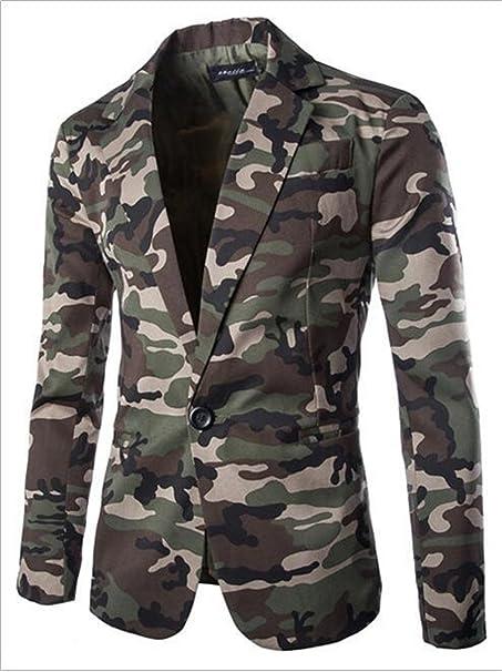 Amazon.com: thadensama Blazer Hombres Estilo militar ...