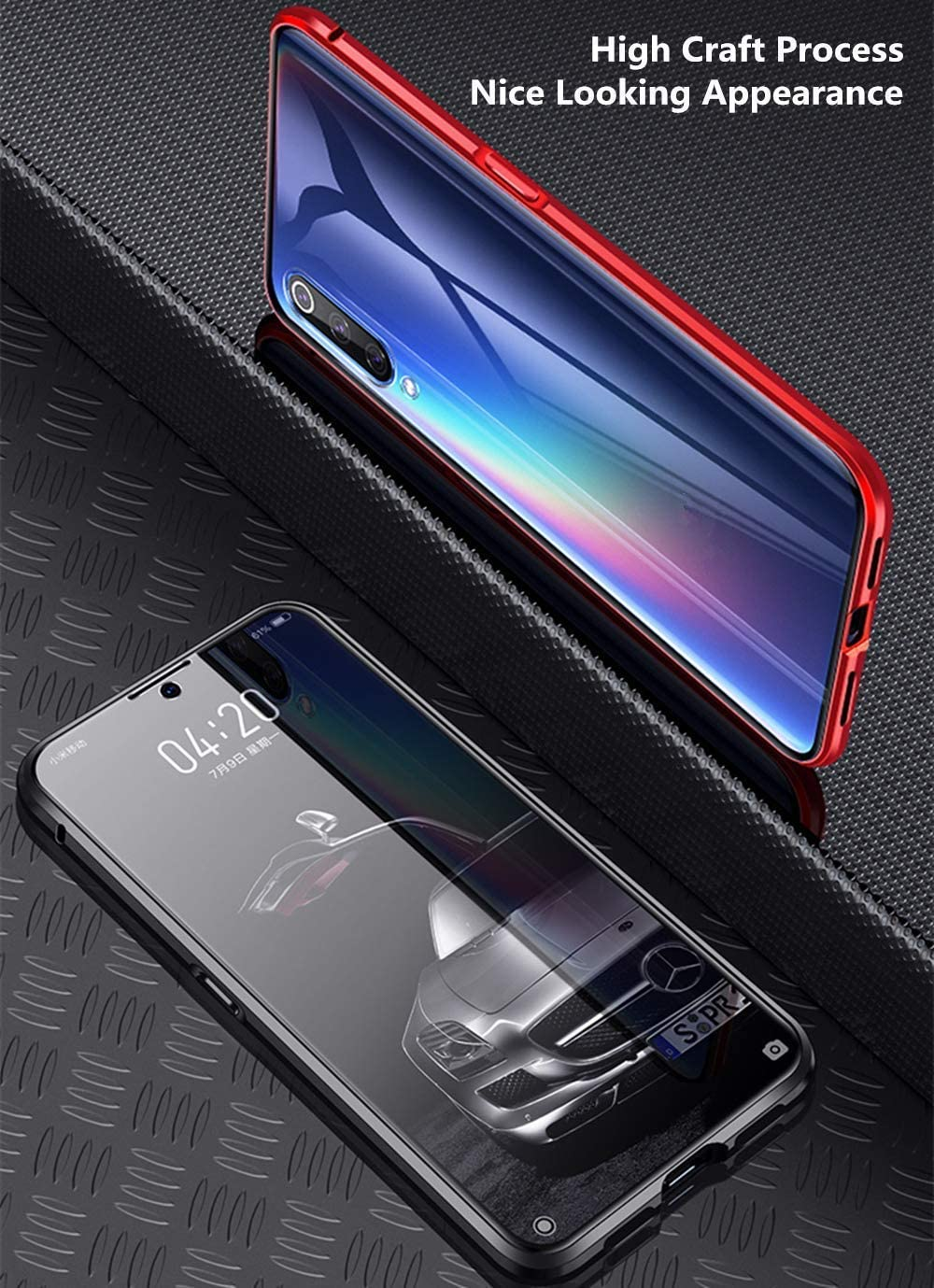 Funda para Xiaomi Redmi Note 8 Carcasa Adsorcion Magnetica Cover 360 Grados Proteccion Doble H/áptico Vidrio Templado Transparente Imanes Potentes Marco Aluminio Anti Choque Metal Bumper Cubierta