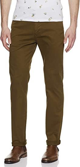 Scotch & Soda Nos Stuart-Slim Fit Cotton/Elastan Garment Dyed Chino Pant Pantalones para Hombre