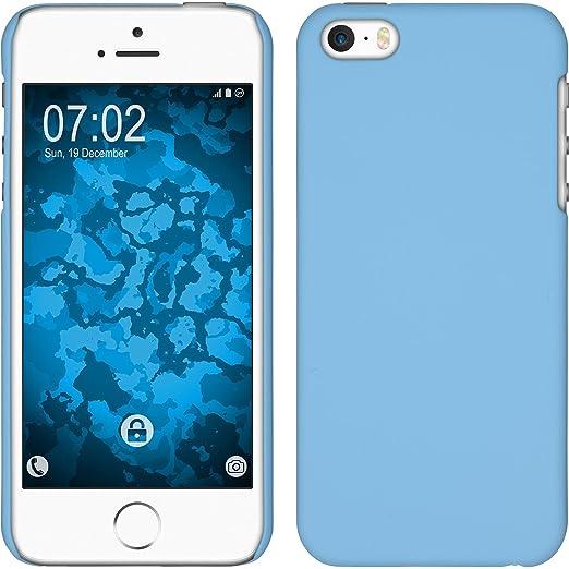 4 opinioni per Custodia Rigida per Apple iPhone 5 / 5s / SE- gommata azzurro- Cover PhoneNatic