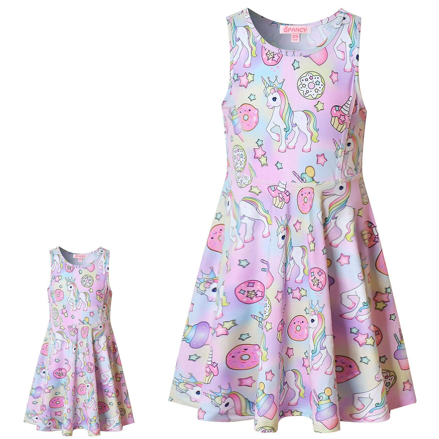 18 inch Doll Clothes for American Girl Unicorn Dresses Costume and Accessories Set