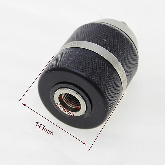 KATSU Tools 105118A - Portabrocas profesional resistente sin llave, herramienta de conversión de liberación rápida, negro/cromo, 13 mm: Amazon.es: Bricolaje ...