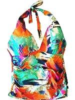 La Blanca Tropical-Print Halter Tankini Multi-Colored Swim 14