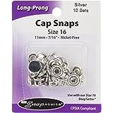 Snap Source Capped Long-Prong Snaps Size 16 10/Pkg-Antique Copper