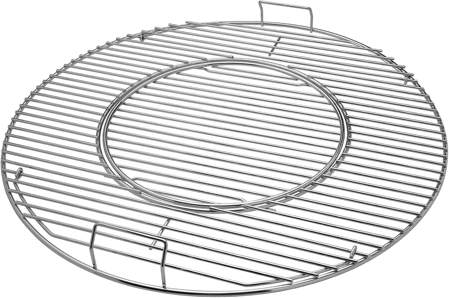 X Home Grill Grate for Weber 22.5 Inch Kettle, Charcoal, Performer, 8835 Gourmet BBQ System Hinged Cooking Grate, 21.5 x 21.5 Inch