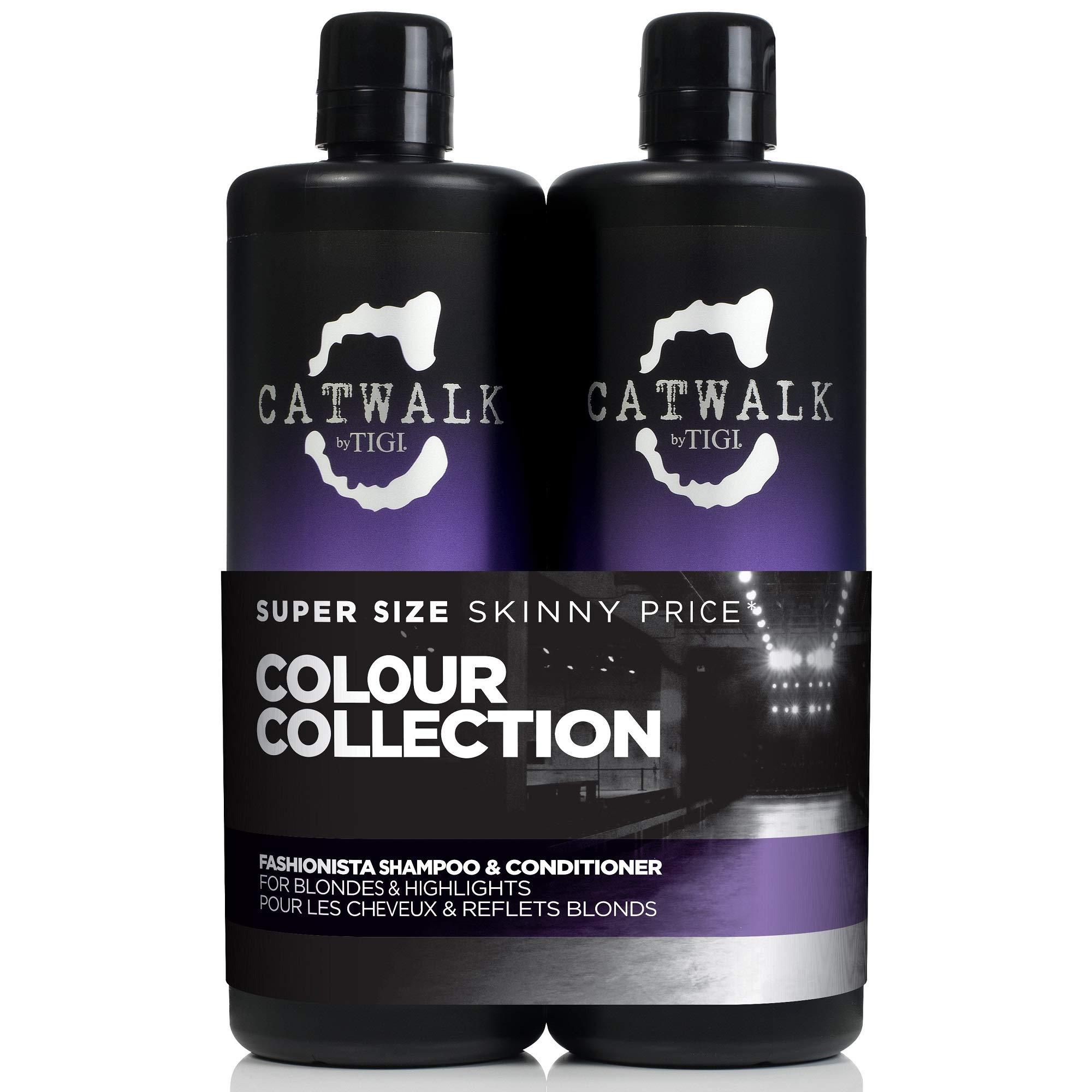 Catwalk by Tigi Fashionista Purple Shampoo and Conditioner for Blonde Hair 2 x 750 ml