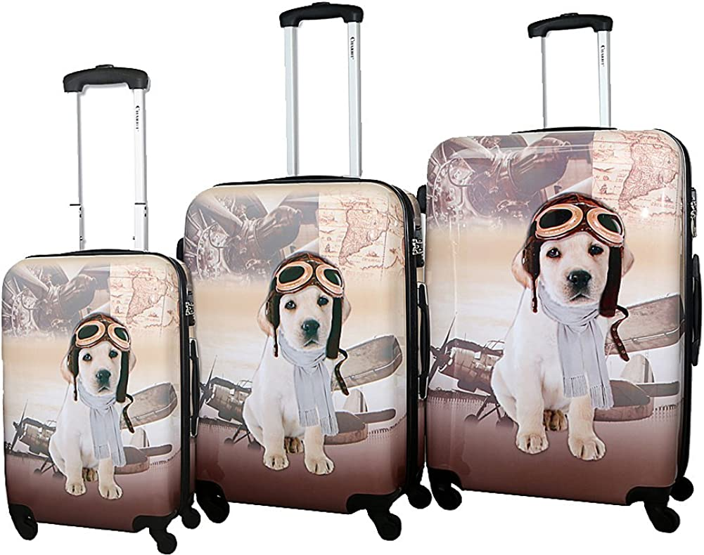 Chariot Pilot Dog 3-Piece Hardside Lightweight Spinner Luggage Set