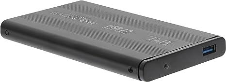TnB Caja Externa de 2,5 Pulgadas y Negra para el Disco Duro - Compatible con SSD y HDD. Conexión USB 3.0.: Amazon.es: Informática