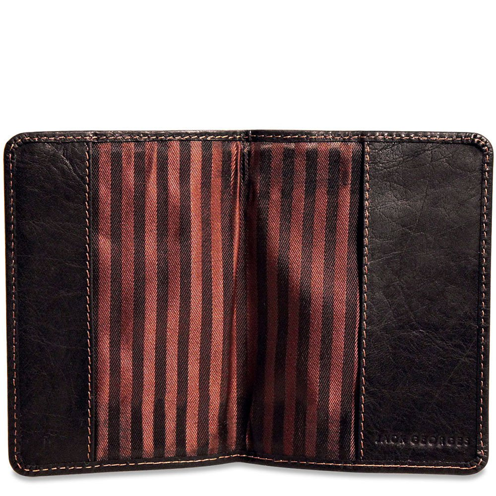 Jack Georges Voyager Leather Passport Cover in Brown by Jack Georges (Image #2)