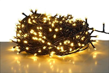 Tannenbaum Lichterkette Led.Led Lichterkette Mit 300 Leds Led Warmweiß Kabel Grün Für Den Innen Und Außenbereich Weihnachtsbaum Lichterkette 300 Led 30m