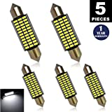 LUYED 5 X 330 Lumens Super Bright 3014 33-EX Chipsets Error Free 569 578 211-2 212-2 LED Bulbs Used For Dome light,Xenon White