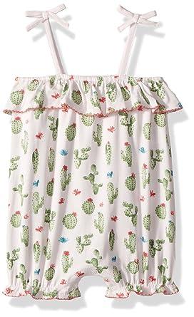 b8ac4b855 Mud Pie Baby Girls Cactus Sleevless Bubble Romper Playwear, Pink, 0-3 Months