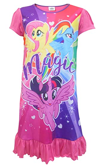 Amazon.com  Cartoon Character Products Girls My Little Pony Nightie - MLP  Nightdress Ages 2 to 8 Years  Clothing bf02611a8