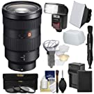 Sony Alpha E-Mount FE 24-70mm f/2.8 GM Zoom Lens with Battery & Charger + Flash/LED Light + Diffusers + Softbox + 3 Filters + Kit