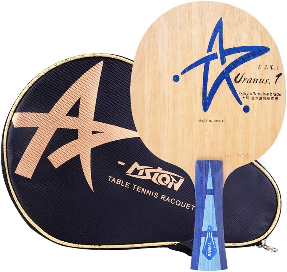 ZHIC 卓球ラケット、7層純木卓球ボード、水平ショット、ペンホールド Good partner to accompany  F