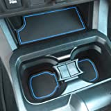 SENSHINE for Toyota Tacoma Accessories 2016-2021 2022 Non-Slip Anti Dust Liner Cup Holder, Console, and Door Pocket Inserts M