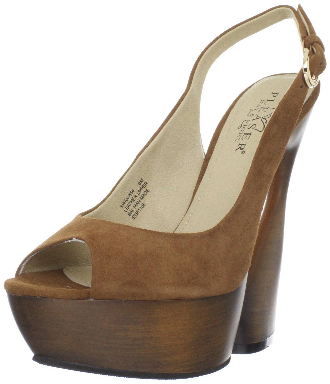 Pleaser Women's Swan-654/COS Platform Sandal B00HV9TY5A 8 B(M) US|Cocoa Suede,