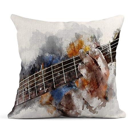Cojín Guitarra Guitarrista Abstracto en Primer Plano Pintura ...