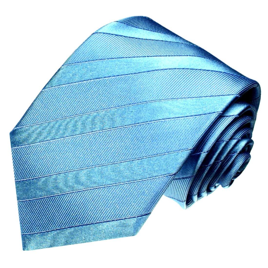 LORENZO CANA - Corbata de lujo de seda 100% seda - Corbata Azul ...