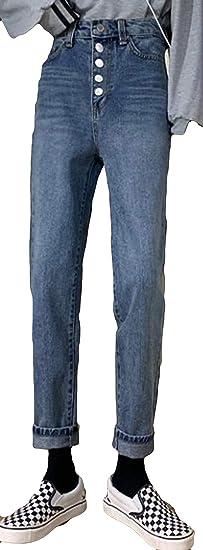 Alhylaジーパン レディース 秋 冬 ハイウエスト ズボン カジュアル ゆったり ジーンズ 女性秋 美脚 細身 ロングパンツ 韓国風 オールシーズン ファッション