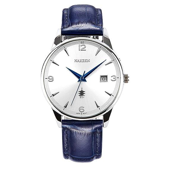 NAKZEN Business Quartz, Reloj de día y Fecha, para Hombre, clásico, con