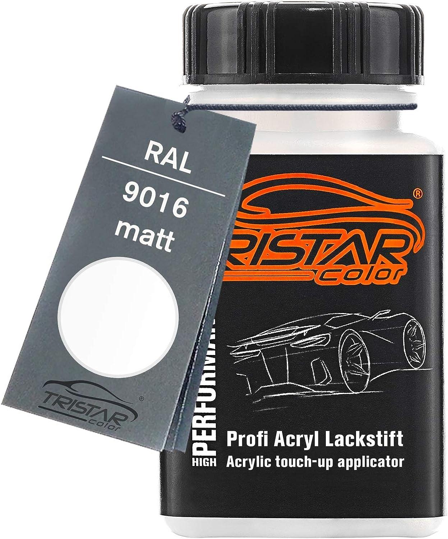 Tristarcolor Ral 9016 Verkehrsweiss Matt Lackstift 50 Ml Schnelltrocknend Auto