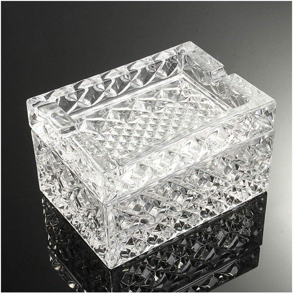 8.4cm 8.3 WENYAO Cristal rectangulaire en Verre de cendrier avec Le Salon//Bureau//Barre dutilisation de d/écorations de d/écoration//Cadeaux 12.3
