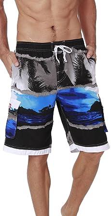 c18411170e04e INGEAR Men's Quick Dry Swim Trunks Cargo Water Shorts with Mesh ...