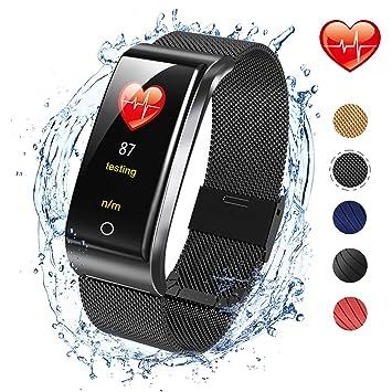 ISWIM Montre Connectée Smartwatch Podomètre Cardiofréquencemètre GPS Sport Fitness Tracker dActivité pour Les Femmes