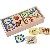 Melissa & Doug Self-Correcting Alphabet Wooden Puzzles with Storage Box (52 pcs)