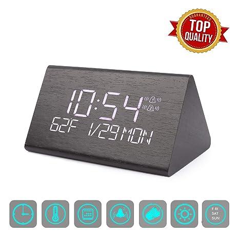 Amazon.com: Digital Alarm Clock, Adjustable Brightness Voice ...