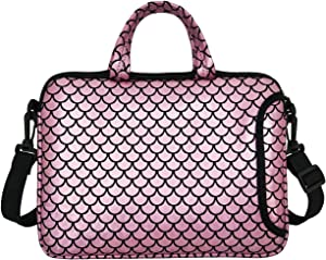 "10.5-Inch Laptop Ipad Shoulder Carrying Bag Case Sleeve for 9.6"" 9.7"" 10"" 10.1"" 10.5"" Ipad/Netbook/Tablet/Reader, Mermaid Scale (Pink)"