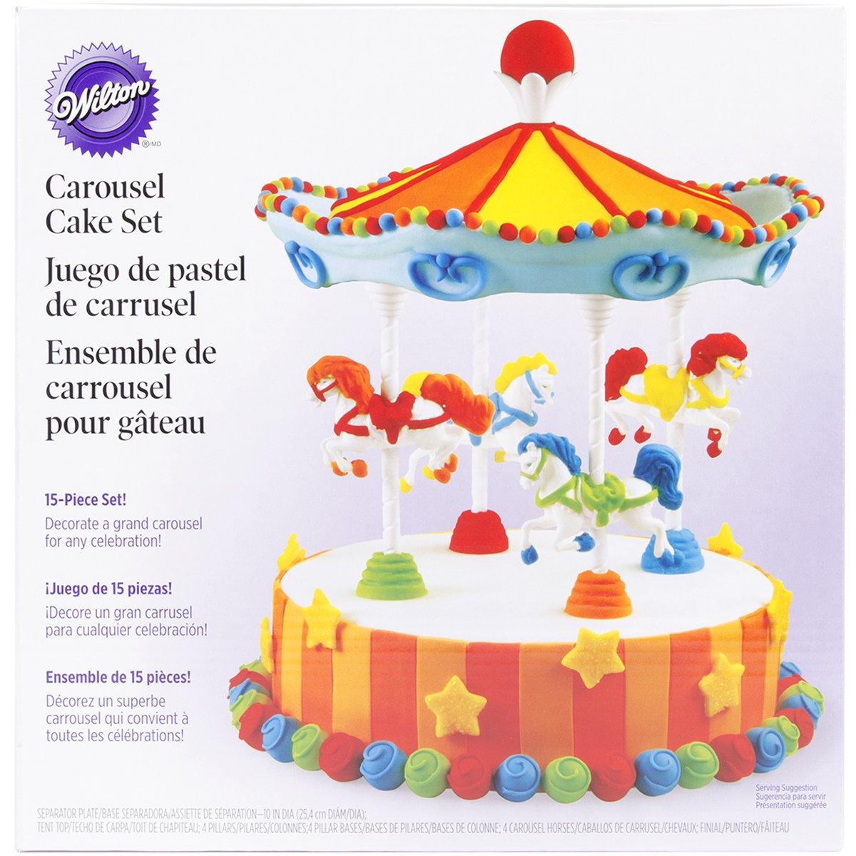 Amazon Wilton Carousel Cake Set Food Decorating Tools Kitchen