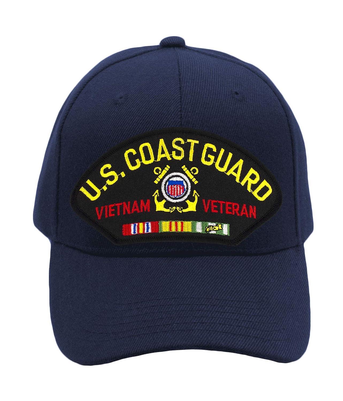 Vietnam Veteran Hat//Ballcap Adjustable One Size Fits Most Patchtown US Coast Guard