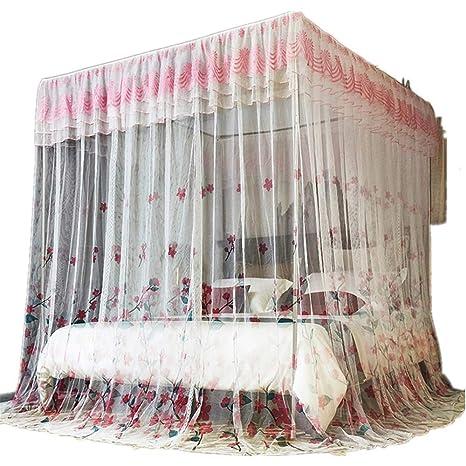 Cortina de la cama de 4 esquinas del poste de la princesa ...