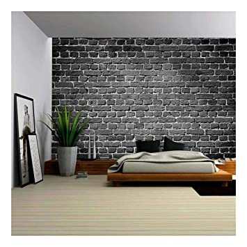 Wall26 Old Dark Brick Wall Texture Background Removable Wall Mural Self Adhesive Large Wallpaper 100x144 Inches