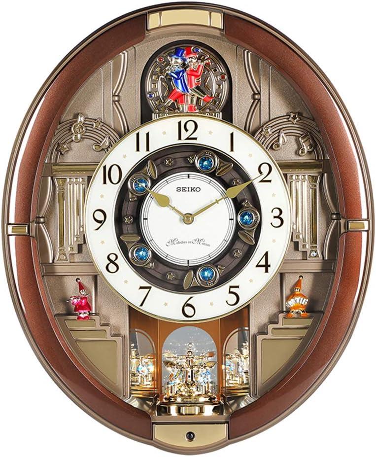 XUEXIONGSP El Ritmo Musical Relojes de Movimiento del Reloj Motivos Melodies18.3 × 15 × 4 Pulgadas,B