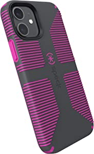 Speck Products CandyShell Pro Grip iPhone 12, iPhone 12 Pro Case, Slate Grey/It's a Vibe Violet