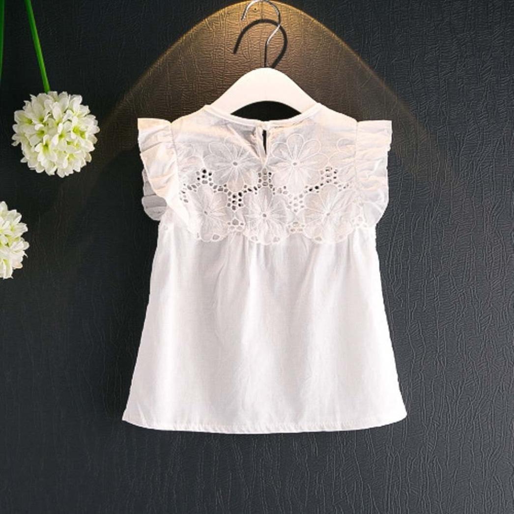 Small Daisy Print Shorts 2pcs Summer Clothes Set Kehen Kids Toddler Girl Sleevless Flower Lace Hollow T-Shirt Tops