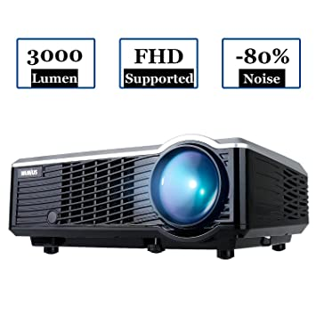 Proyectores, Proyector Full HD LED 3000 Lúmenes Portátil Proyector Video WiMiUS T7 Projector LCD Home Cinema Videoproyector Apoyo 1080P HDMI USB VGA ...