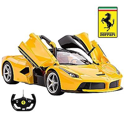 1/14 Scale Ferrari La Ferrari LaFerrari Radio Remote Control Model Car R/C RTR Open Doors (Yellow) by FMTStore: Toys & Games