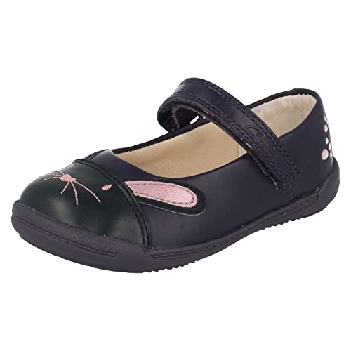 28b973151a155 Clarks Iva Bunny Girls First Shoes 5.5 G Navy 2: Amazon.co.uk: Shoes ...