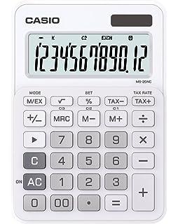 amazon com casio ms 20nc rg basic calculator large display tax