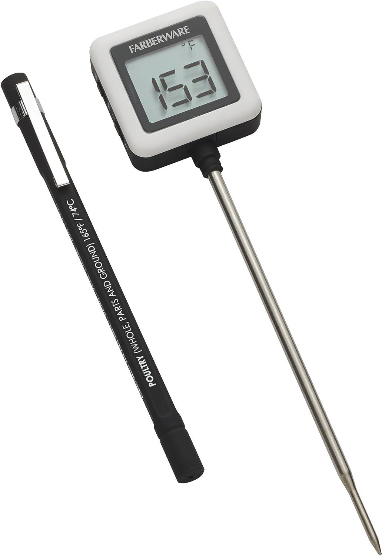 Farberware Protek Instant Read Thermometer, Black