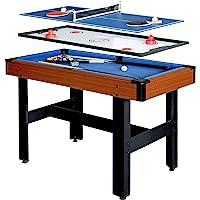 Hathaway BG1131M Triad 3 en 1 Mesa multijuego con Piscina, Hockey Deslizante y Tenis de Mesa para Salas de Juegos Familiares